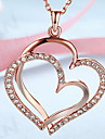 Pendant Necklaces Jewelry 18K gold Alloy Heart Heart Fashion Gold White Rose Gold Jewelry Daily Casual 1pc