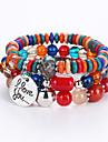 Bracelets de rive Multicouches bijoux de fantaisie Mode Perle Resine Alliage Bijoux Bijoux Pour Anniversaire Fiancailles Regalos de