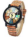 Женские Модные часы Часы Дерево Цветной Кварцевый Дерево Группа Радужный Разноцветный
