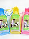 Кошка Собака Миски и бутылки с водой Животные Чаши и откорма Компактность Красный Голубой Желтый Пластик