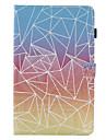 Para Porta-Cartao Com Suporte Flip Estampada Capinha Corpo Inteiro Capinha Padrao Geometrico Rigida Couro PU para SamsungTab E 9.6 Tab E