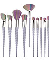 10pcs Contour Brush Makeup Brush Set Blush Brush Eyeshadow Brush Lip Brush Concealer Brush Fan Brush Foundation Brush Synthetic Hair