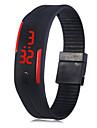 водить дата часы красный цифровой прямоугольник циферблат резинкой