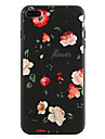 Para Estampada Capinha Capa Traseira Capinha Flor Macia TPU para Apple iPhone 7 Plus iPhone 7