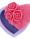 1Pcs 6.8X6.3X3Cm Silicone Rose Shape Cake Ice Jelly Chocolate Molds  Random Color