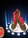блестящие кружева со светодиодной вспышкой шнурков красочные светящиеся кружева спортивная обувь флуоресцентные цвета мужчин и женщин