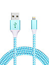 USB 2.0 Tresse Normal Cable Pour Apple iPhone iPad 120 cm Metal Nylon Aluminium