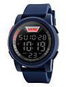 SKMEI 남성용 스포츠 시계 손목 시계 디지털 시계 디지털 LED LCD 달력 방수 경보 스톱워치 고무 밴드 멋진 블랙 블루 그린