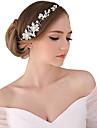 Femme Perle Cristal Alliage Casque-Mariage Occasion speciale Exterieur Serre-tete Fleurs Chaine pour Cheveux 1 Piece