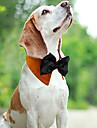 Коты Собаки Ошейники Регулируется/Выдвижной Дышащий Бант Белый Зеленый Оранжевый Ткань