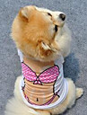 Собака Жилет Одежда для собак Очаровательный На каждый день Принцесса Белый