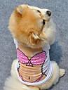 Cachorro Colete Roupas para Caes Fofo Casual Princesa Branco