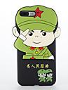 Pour Antichoc Coque Coque Arriere Coque Dessin Anime 3D Flexible Silicone pour AppleiPhone 7 Plus iPhone 7 iPhone 6s Plus iPhone 6 Plus