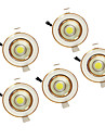 5W COB 220-240V Warm White LED Down Light Recessed Ceiling 5PCS