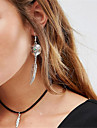Women\'s Choker Necklaces Pendant Necklaces Jewelry Teardrop Alloy Dangling Style Pendant Euramerican Fashion Personalized Jewelry For