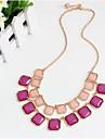 Жен. Ожерелья с подвесками Заявление ожерелья Multi-камень Драгоценный камень Уникальный дизайн Мода Euramerican Розовый Бижутерия ДляДля
