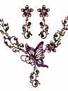 Alloy / Rhinestone / Opal Jewelry Set Necklace/Earrings Party / Daily / Casual 1set