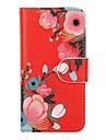 Para Carteira Porta-Cartao Com Suporte Flip Capinha Corpo Inteiro Capinha Flor Rigida Couro PU para AppleiPhone 6s Plus iPhone 6 Plus