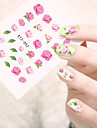 10pcs/set Hot Sale Summer Style Nail Art Water Transfer Decals Beautiful Pink Flower Design Nail DIY Beauty Decals Manicure Beauty Sticker  STZ-052