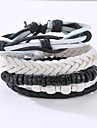 The New Vintage Cowhide Ancient Hand Woven Bracelet Cortical Layers Hand Rope Men\'s Bracelet Adjustable Size048