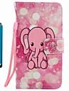 Capa de capa carteira carteira com suporte flip padrao caixa de corpo inteiro com stylu elefante hard pu couro para maca iphone 7 mais 7