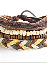 Strand Wrap Bracelet Leather Circle Vintage Punk Men\'s Women\'s Jewelry 1pc
