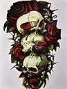 1Pcs Skull Rose 3D Tattoo Sticker