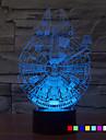 1шт 7color изменить 3d свет ночи вел звёздные войны лампы Тысячелетний сокол светодиодное освещение домашнего декора настольная лампа