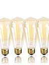 GMY® ST64 Edison Vintage Bulb 220-240V 40W E27 Amber Warm White Decorative Dimmable 4PCS