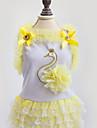 Собаки Платья Одежда для собак Лето Весна/осень Принцесса Милые Мода На каждый день Лиловый Желтый