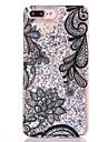 Para Case Tampa Liquido Flutuante Transparente Capa Traseira Capinha Brilho com Glitter Rigida PC para AppleiPhone 7 Plus iPhone 7 iPhone