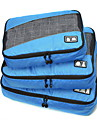 3 PCS Set Foldable Portable Large Capacity Durable Net Fabric Polyester Travel Bag Storage Luggage Accessory