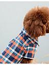 Собака Комбинезоны Одежда для собак На каждый день Мода В клетку Оранжевый Красный Синий