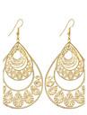 Mulheres Brincos Compridos Joias Pingente Moda Vintage Estilo Boemio Estilo simples Elegant Prata Chapeada Chapeado Dourado Liga Caido