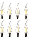 3.5 E14 LED лампы в форме свечи CA35 4 COB 400 lm Тёплый белый Декоративная AC 220-240 V 8 ед.