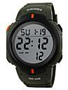 남성용 스포츠 시계 드레스 시계 패션 시계 디지털 시계 석영 디지털 달력 큰 다이얼 천연 가죽 밴드 빈티지 캐쥬얼 멀티컬러