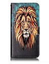 For iPhone 7 Plus 7 Lion Pattern Varnishing Process Embossed PU Leather Material Phone Case 6S Plus 6S 6 5S SE 5