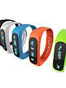 e02 esporte pulseira Bluetooth relogio inteligente tempo pulseira saudavel / identificador de chamadas / alarme / pedometro monitor de