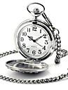 Men\'s Women\'s Pocket Watch Quartz Automatic self-winding Alloy Band Silver
