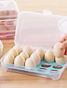 1pcs 15 пустой холодильник кухни яйца хранения коробка держатель сохранение коробка переносной пластик положить яйца коробка домашняя