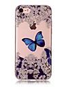 Pour Apple iphone 7 7 plus 6s 6 plus se 5s 5 5c housse couverture papillon modele hd peint materiel tpu imd process boitier de telephone