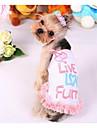 Собаки Платья Одежда для собак Мода На каждый день Принцесса Желтый Розовый