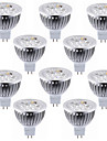 10pcs 4W MR16(GU5.3) 4 High Power LED 450-500lm Warm/Cool White Led Spotlight Bulb DC12V