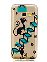 For Samsung A3 A5 (2017) Case Cover Stairs Cat Pattern Painted High Penetration TPU Material IMD Process Soft Case Phone Case A3 A5 (2016)