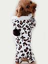 Коты Собаки Комбинезоны Пижамы Черный Одежда для собак Зима Весна/осень Матовый черный Милые На каждый день