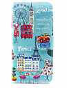 For Samsung Galaxy S5 S6 S7 S8 Case Cover The City View Pattern PU Mobile Phone Holster for S7 Edge