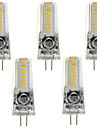 3W G4 GY6.35 Bi-pin LED Silicone Light 18 SMD3014 AC/DC12V for Chandelier 260 lm Warm/Cool White  (1 pcs)