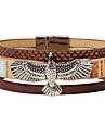 Homme Bracelets en cuir Mode Vintage Style Punk Hip-Hop Pierre bijoux de fantaisie Cuir Alliage Forme de Cercle Forme Ronde Forme