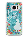 For Samsung Galaxy S8 Plus S8 Phone Case Princess Pattern Flowing Quicksand Liquid Glitter Plastic PC Materia S7 edge S7
