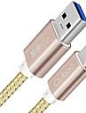 USB 3.0 Type-C Tresse Haut debit Charge rapide Cable Pour Samsung Huawei Sony Nokia HTC Motorola LG Lenovo Xiaomi cm Nylon